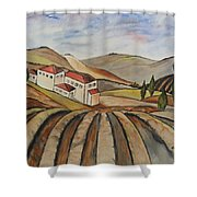 The Valley Of Jesrael Shower Curtain