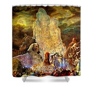 The Valley Of Sphinks Shower Curtain
