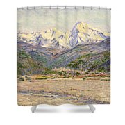 The Valley Of The Nervia, 1884  Shower Curtain