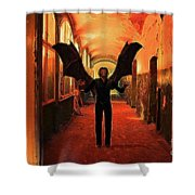 The Vampire Beckons Shower Curtain