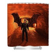 The Vampire Shower Curtain