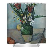 The Vase Of Tulips Shower Curtain