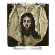 The Veil Of Saint Veronica Shower Curtain
