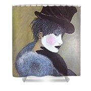 The Velvet Hat Shower Curtain