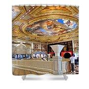The Venetian Hotel Lobby Shower Curtain