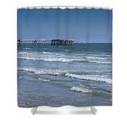 The Venice Pier 1 Shower Curtain