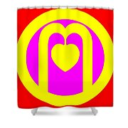 The Very Secret Sacred Heart Of Om Shower Curtain by Eikoni Images