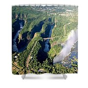 The Vic Falls Gorge Shower Curtain