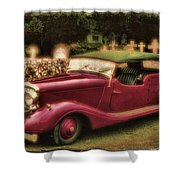 The Vicar's Roadster Shower Curtain