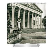 The Victoria Rooms With Lamp Post, Bristol Shower Curtain