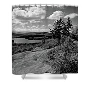The View From Bald Mountain Shower Curtain