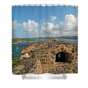 The View From Fort Rodney On Pigeon Island Gros Islet Caribbean Shower Curtain