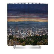 The View From Pittock Mansion Viewpoint Shower Curtain