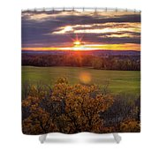 The View From Up Here Shower Curtain by Viviana Nadowski