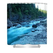 The View Of A River Shower Curtain