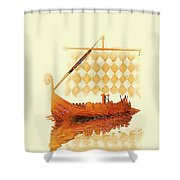The Viking Ship Shower Curtain