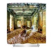 The Villa Of The Boat In The Antique Salon - La Villa Della Barca Nell'antico Salone Shower Curtain