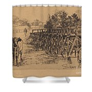 The Village Ford Shower Curtain
