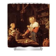 The Village Grocer 1647 Shower Curtain