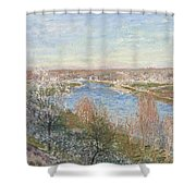 The Village In Champagne Shower Curtain