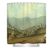 The Village Of Betania With A View Of The Dead Sea Shower Curtain