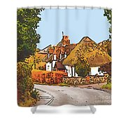 The Village Of Chilbolton Shower Curtain