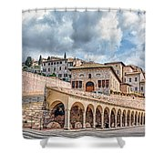 The Village Of St. Francis Of Assisi Shower Curtain