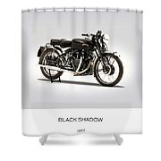 The Vincent Black Shadow Shower Curtain