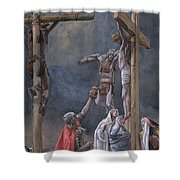 The Vinegar Given To Jesus Shower Curtain
