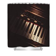 The Vintage Music Hall Shower Curtain