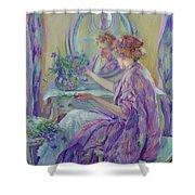 The Violet Kimono 1911 Shower Curtain