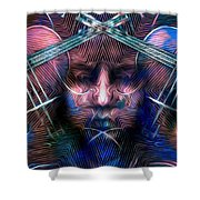 The Violinist Dual Tone   Shower Curtain