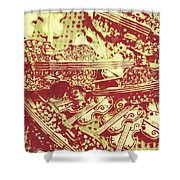 The Violinist Playwright Shower Curtain