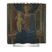 The Virgin And Child Enthroned Shower Curtain