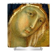 The Virgin And Child On A Throne Fragment 1311 Shower Curtain
