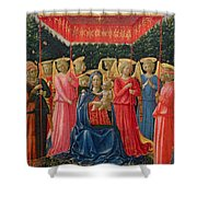 The Virgin And Child With Angels Shower Curtain