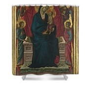 The Virgin And Child With Four Angels Shower Curtain