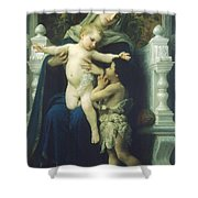 The Virgin Baby Jesus And Saint John The Baptist Shower Curtain
