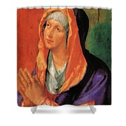 The Virgin Mary In Prayer Shower Curtain