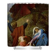 The Virgin Of Calvary Shower Curtain by Jules Eugene Lenepveu