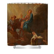 The Virgin Placing St Teresa Under The Protection Of St Joseph Shower Curtain