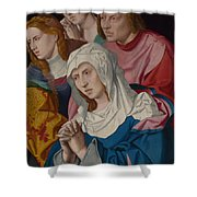 The Virgin Saints And A Holy Woman Shower Curtain