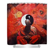 The Virtual Nirvana Man Of The Galaxy  Shower Curtain