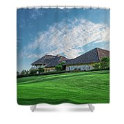 The Virtues Golf Course Clubhouse Shower Curtain