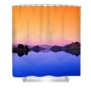 The Virunga Mountains Rise Above Lake Shower Curtain