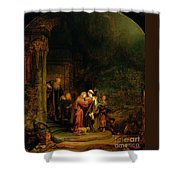 The Visitation Shower Curtain