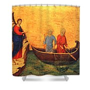 The Vocation Of The Apostle Peter Fragment 1311 Shower Curtain
