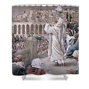 The Voice From Heaven Shower Curtain
