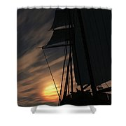 The Voyage Home  Shower Curtain