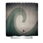 The Voyage Of The James Caird. Shower Curtain
